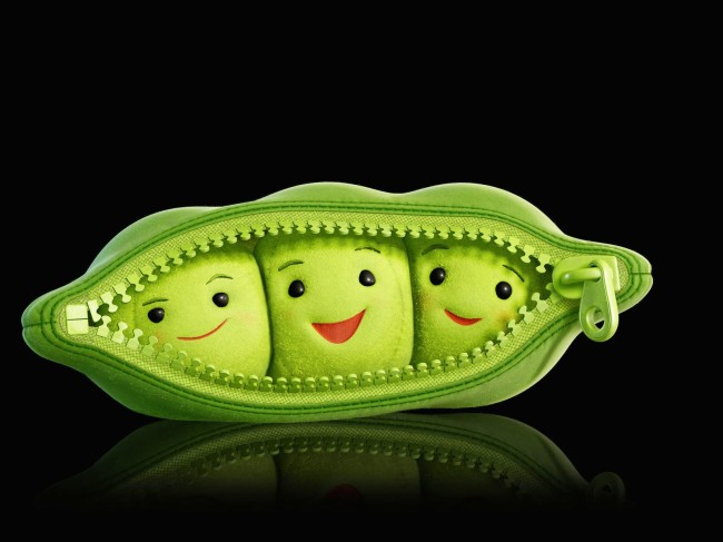 cute green peas