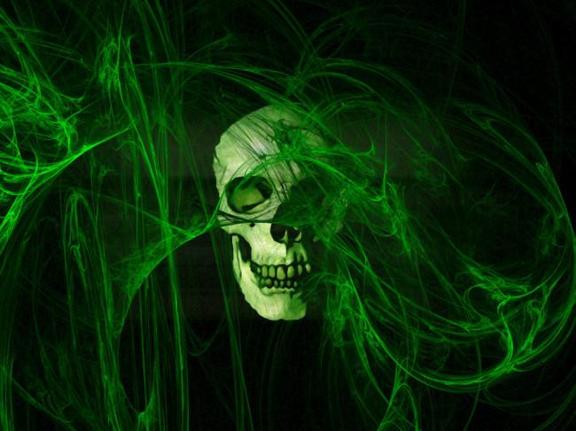 green skeleton wallpaper