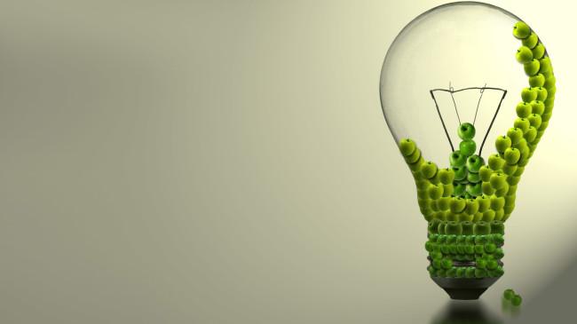 Green Bulb Green Wallpaper