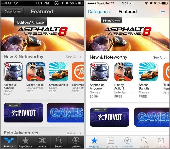 iOS 6 vs. iOS 7: A Breif Comparison of Interface ...
